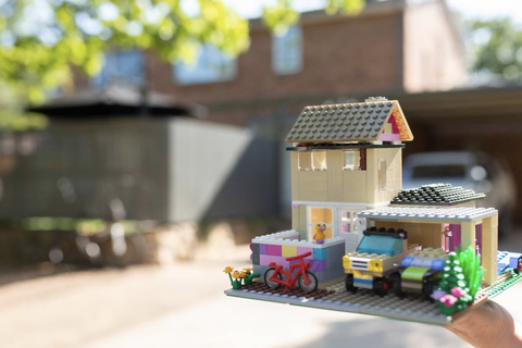 The Dickson house built on (a love of) LEGO
